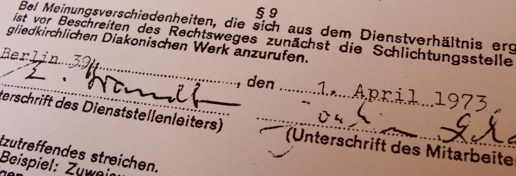 Arbeitsvertrag Lohan