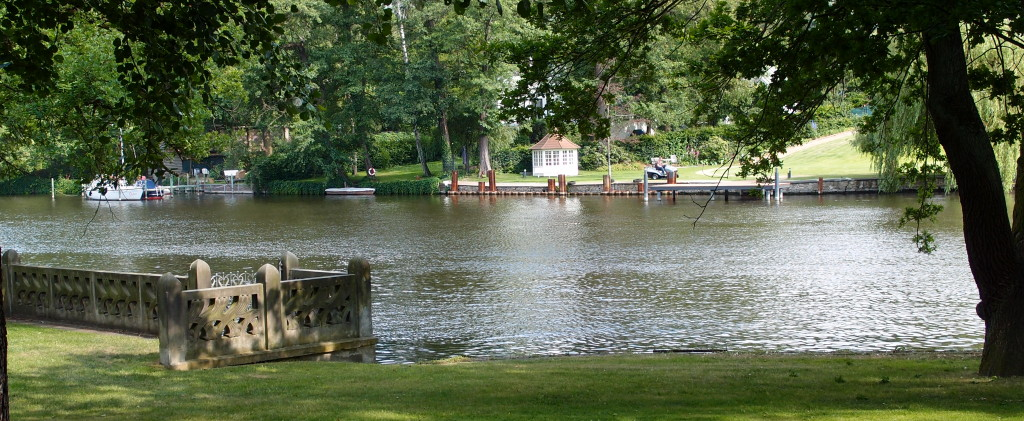 Blick auf den Kleinen Wannsee im Immanuel Park