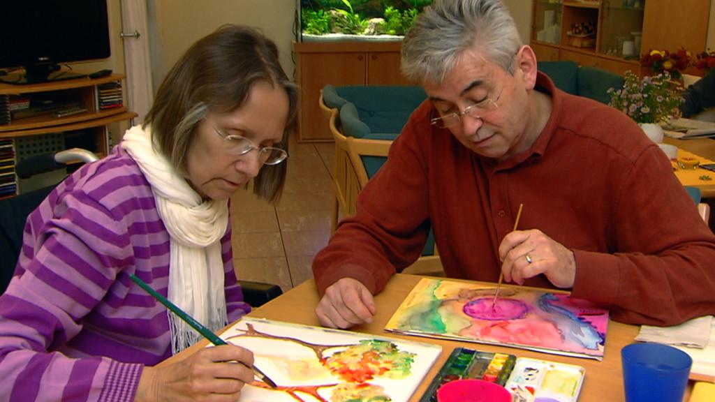 Kunstherapie mit Gästen und Angehörigen im Diakonie-Hospiz-Wannsee